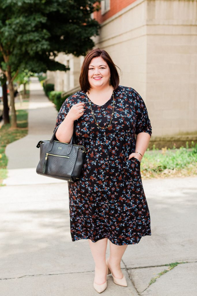 How to style an Ulla Popken plus size dress