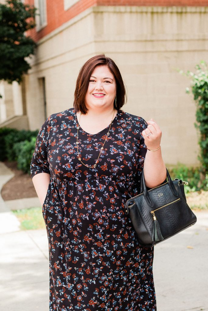 Authentically Emmie in a plus size Ulla Popken dress