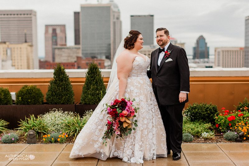 Fall wedding in Louisville Kentucky at the Brown Hotel