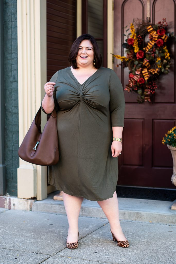 Plus size fall outfit idea on Louisville influencer Emily Ho