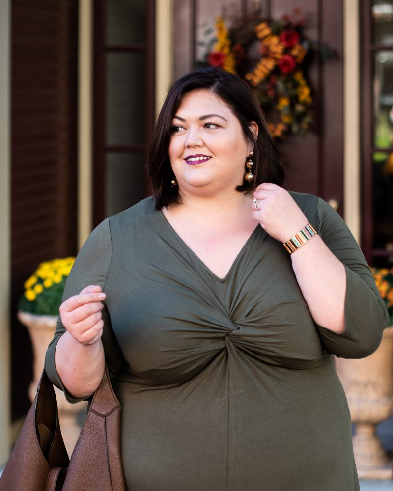 Catherines plus size outfit idea on Louisville blogger Authentically Emmie