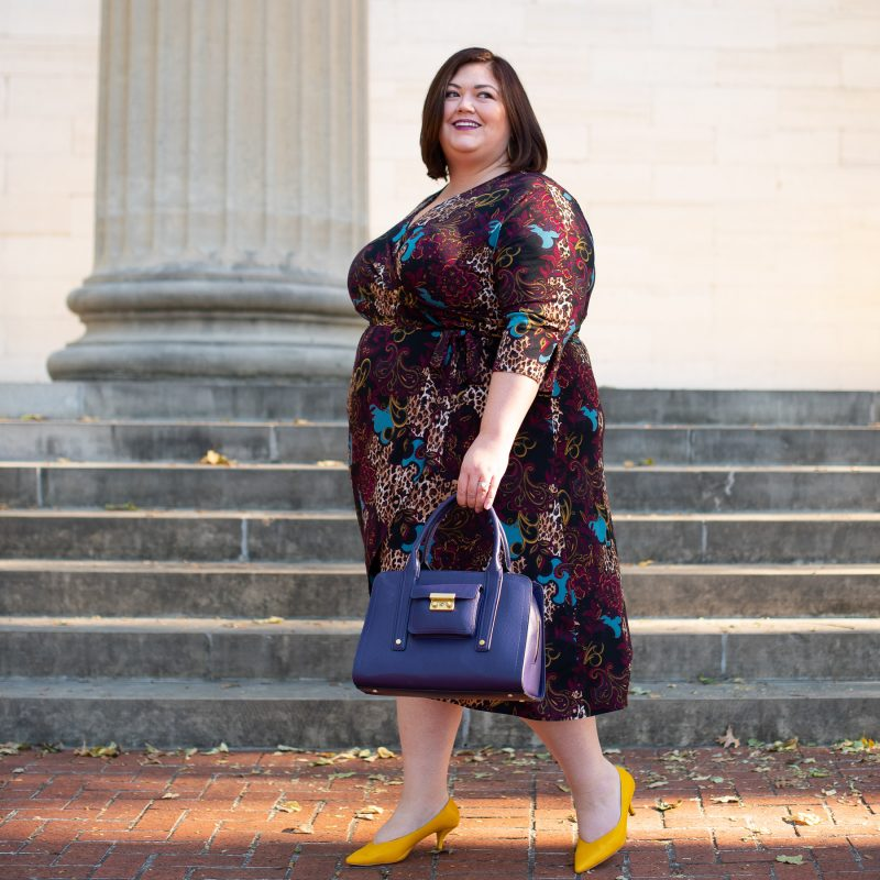 Catherines wrap dress on Authentically Emmie