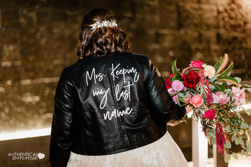 How to make your own custom wedding jacket that has removable words