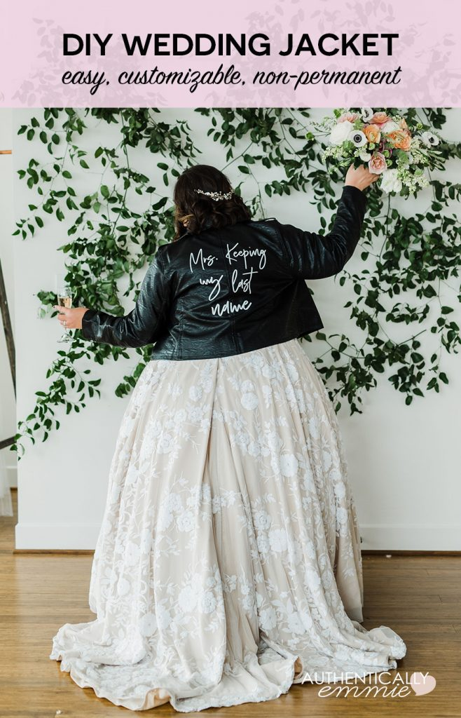 How to DIY a custom wedding jacket without any painting and that is completely removable