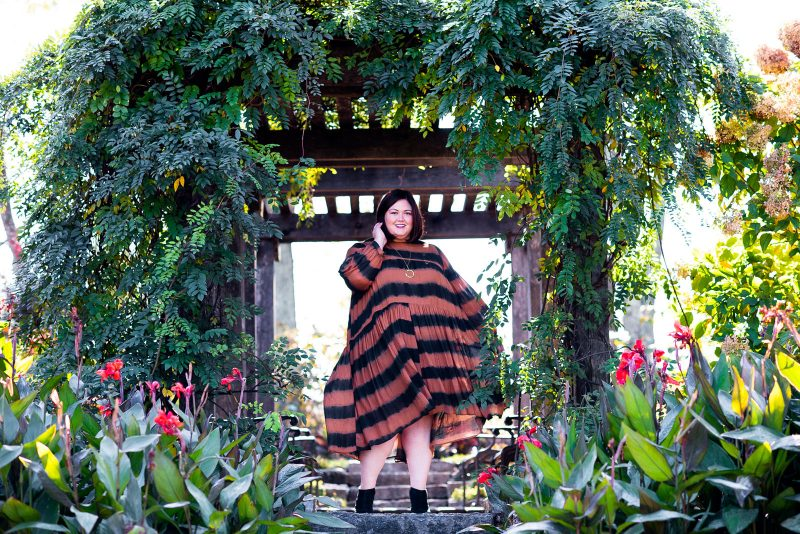 Kentucky plus size fashion influencer wearing Anthropologie