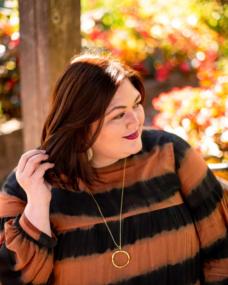 Plus size fashion influencer Authentically Emmie