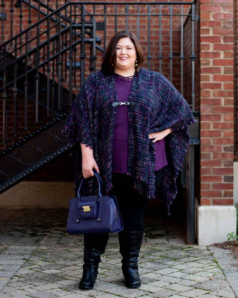 What to wear to Thanksgiving - a casual plus size outfit from Catherines