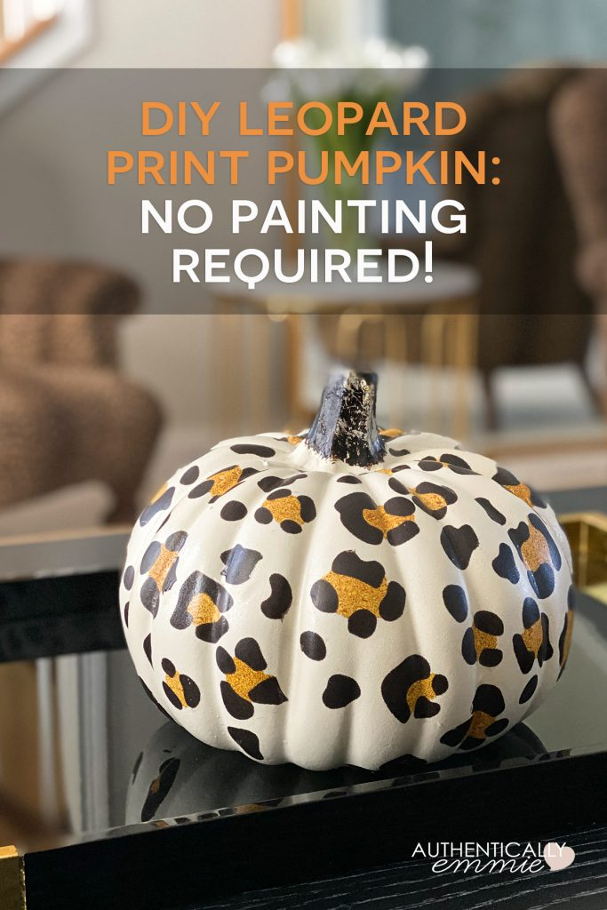How to DIY a leopard print pumpkin with temporary tattoos - no painting required