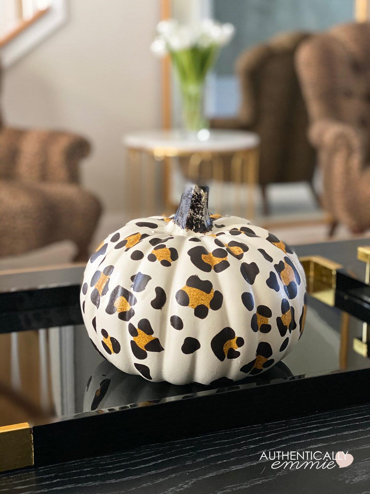 DIY Leopard Print Pumpkin