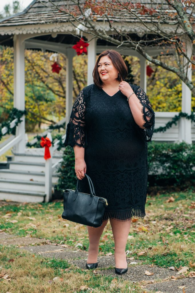 Perfect plus size holiday party dress from Catherines