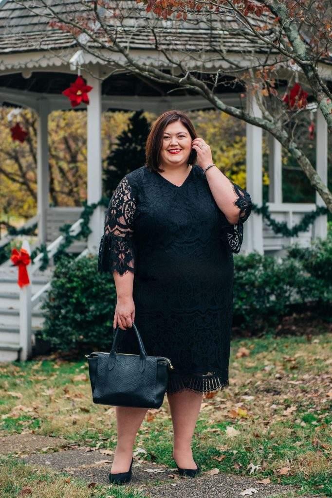 Plus size cocktail dress from Catherines for holiday parties