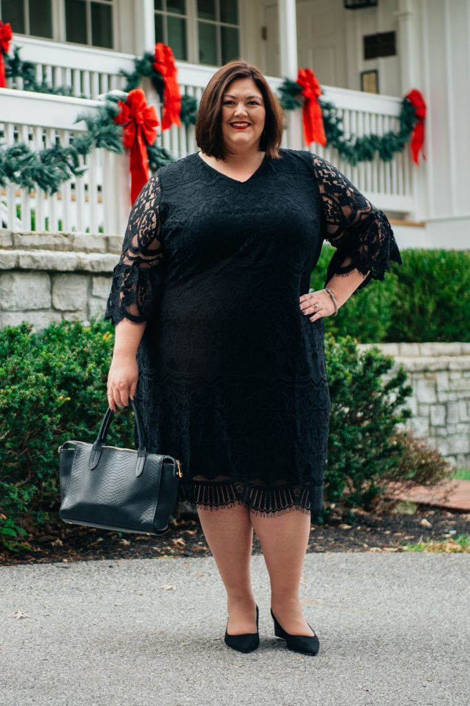 What to wear to a holiday party - plus size cocktail dress