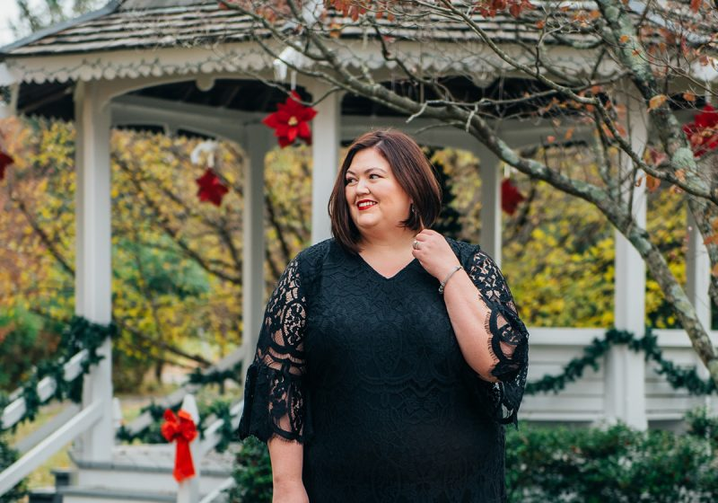 What to wear to a holiday party - cocktail dress idea for plus sizes