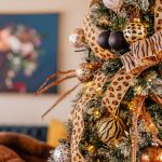 Animal Print Christmas Tree Theme