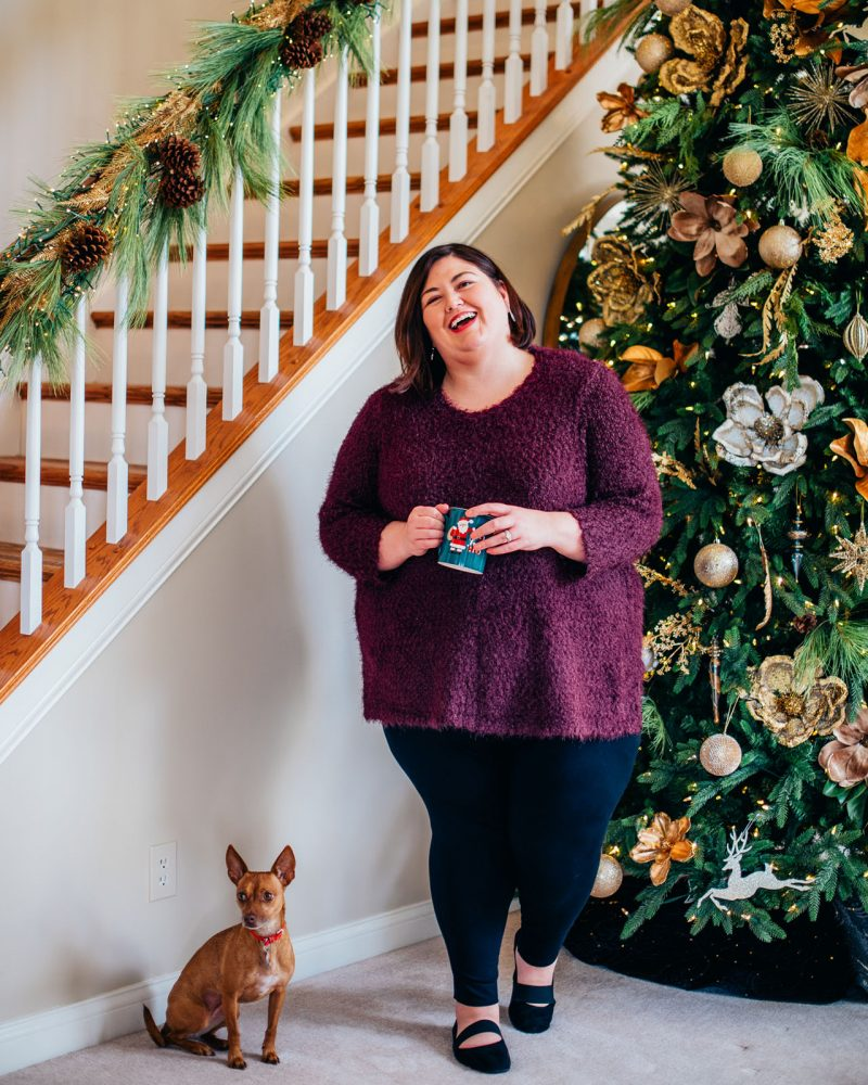 Casual at home outfit idea from plus size brand Catherines