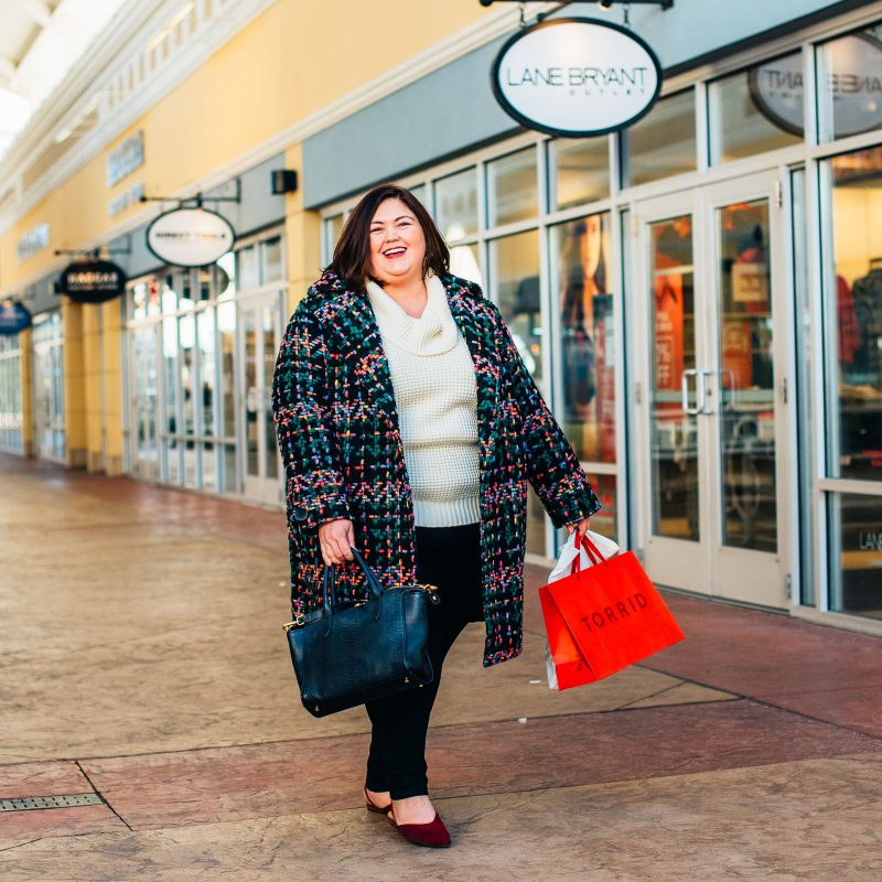 Plus size shopping at the Outlet Shoppes of the Bluegrass near Louisville