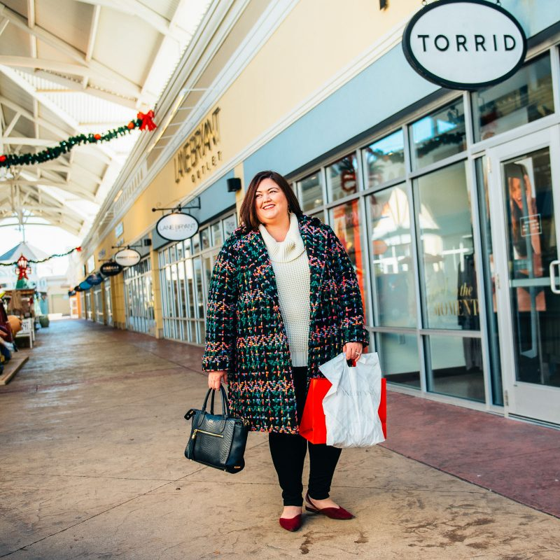 Shopping the Lane Bryant and Torrid outlets at Outlet Shoppes of the Bluegrass in Shelby County, near Louisville