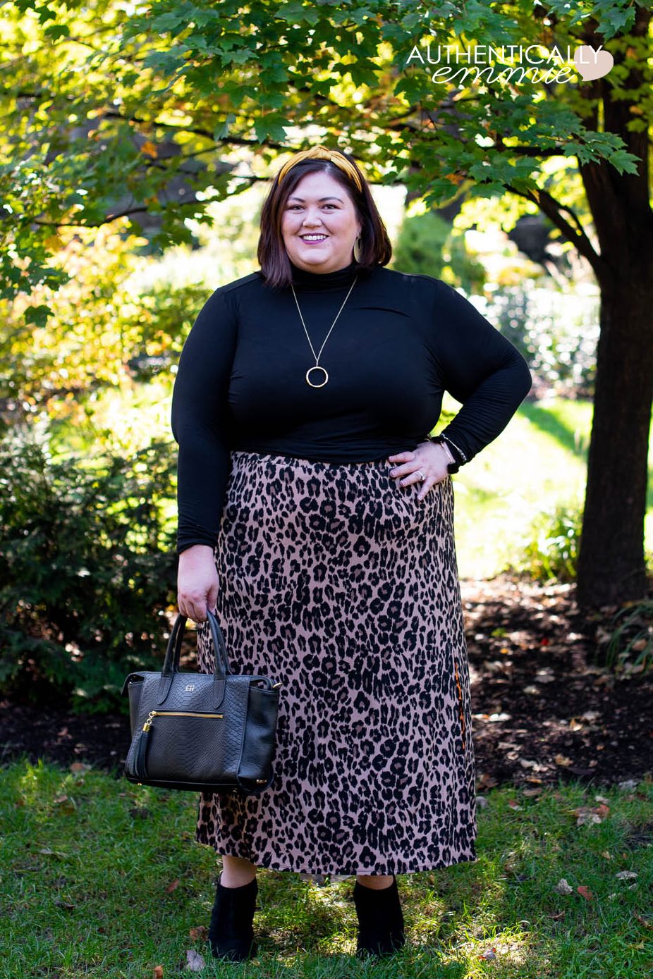 Cold Weather Leopard Print Outfit Idea