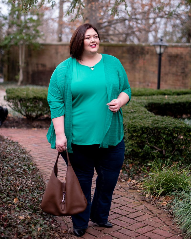Spring plus size outfit from Catherines