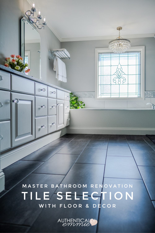 Master Bathroom Tile from Floor & Decor
