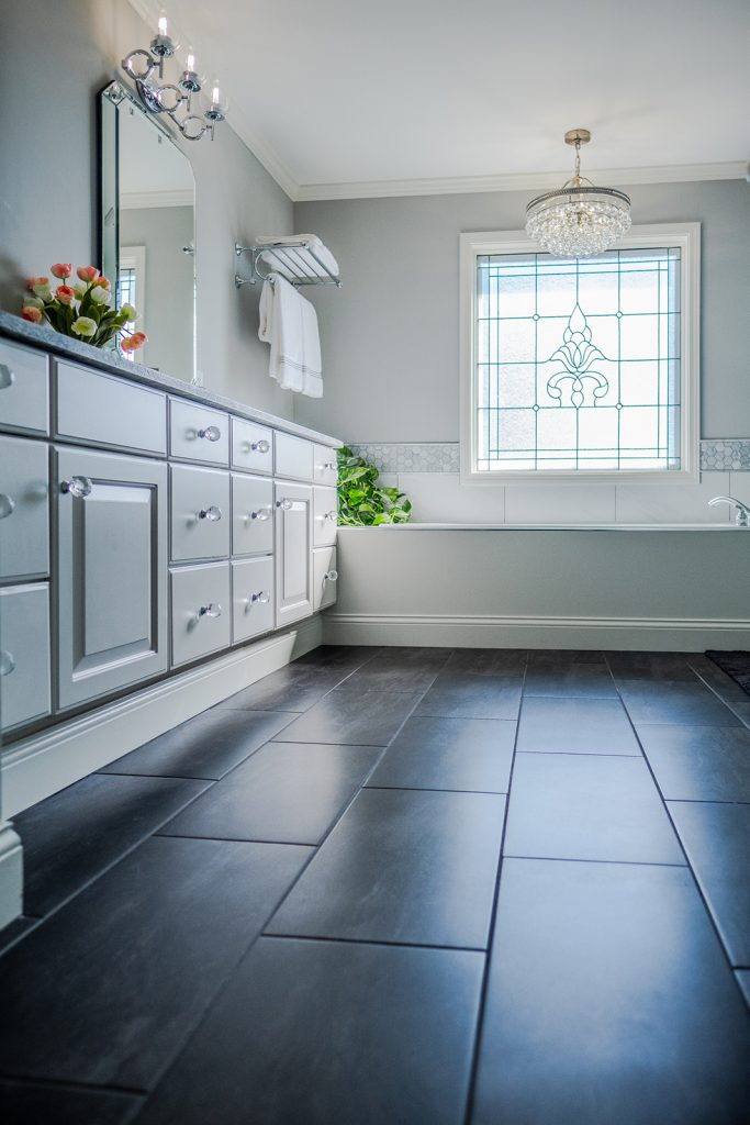 Master bathroom tile from Floor and Decor