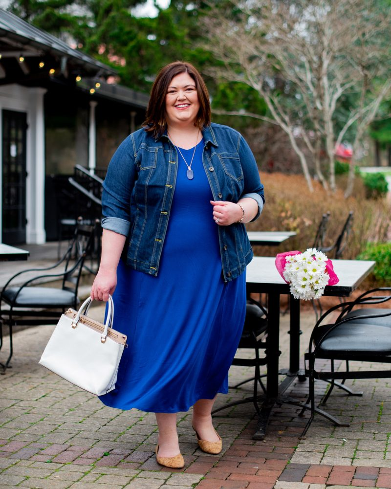 Spring plus size outfit idea from Louisville influencer Authentically Emmie
