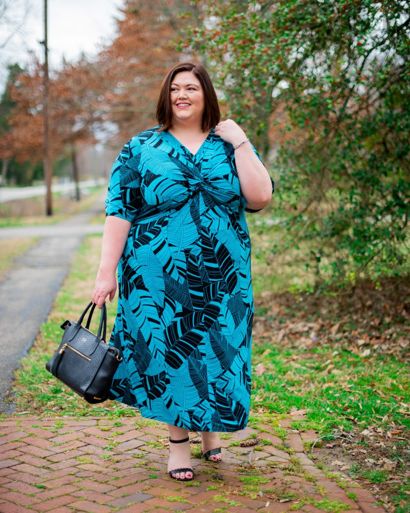 Plus size summer maxi dress outfit idea from Catherines