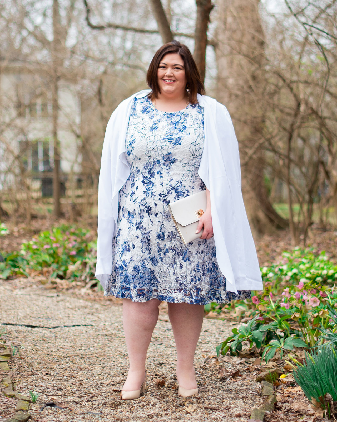 Blue and white lace for spring