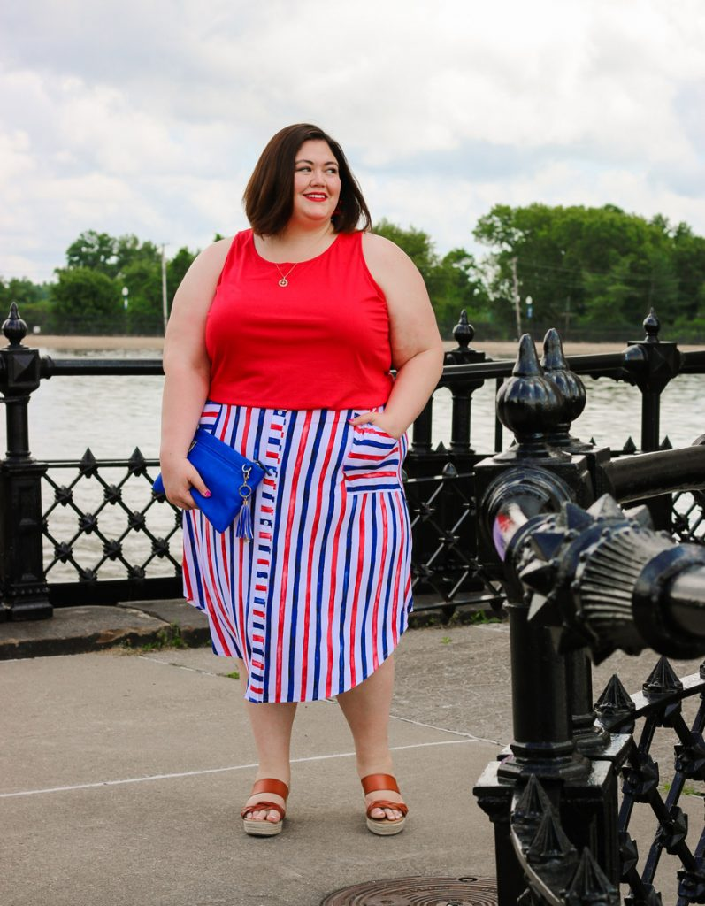 Summer plus size outfit idea on Louisville influencer Emily Ho