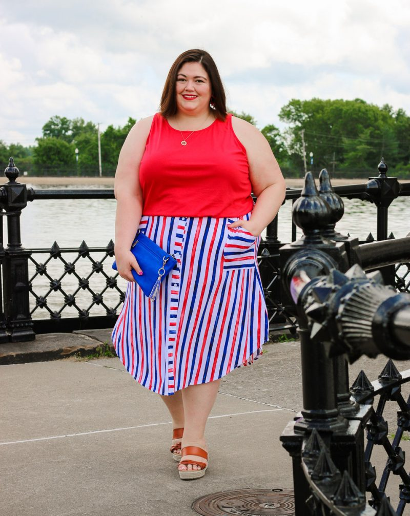 A plus size summer outfit idea on Louisville blogger Authentically Emmie