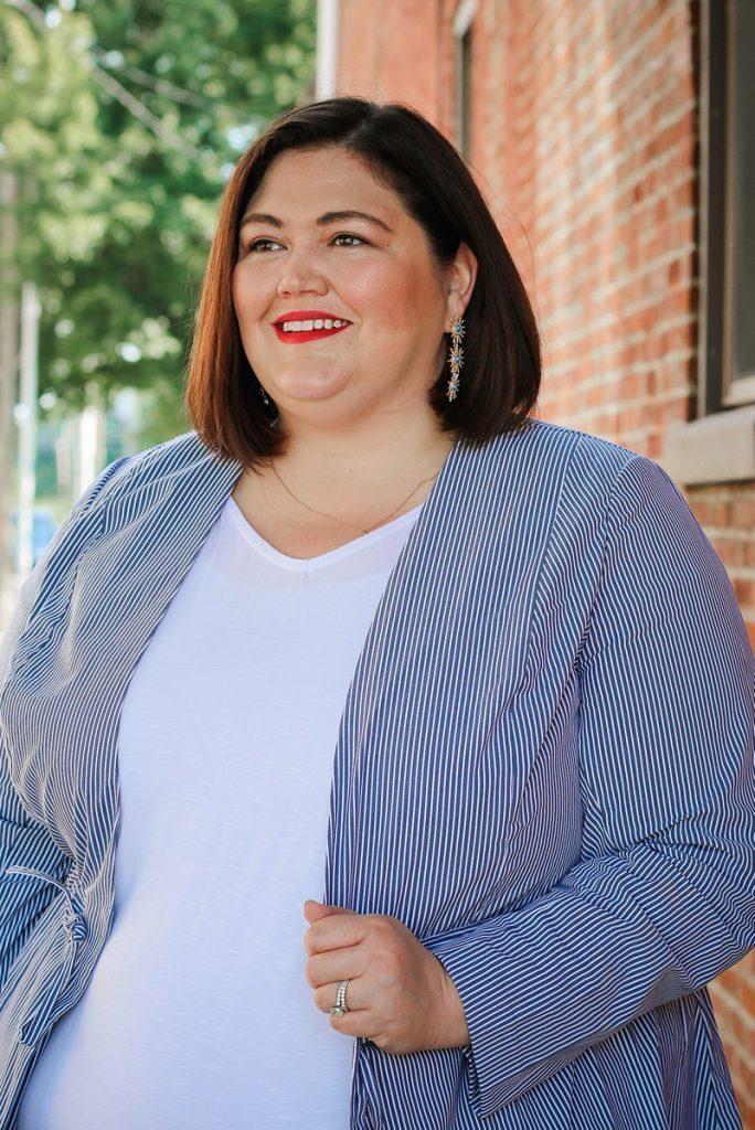Louisville plus size fashion influencer Emily Ho of Authentically Emmie