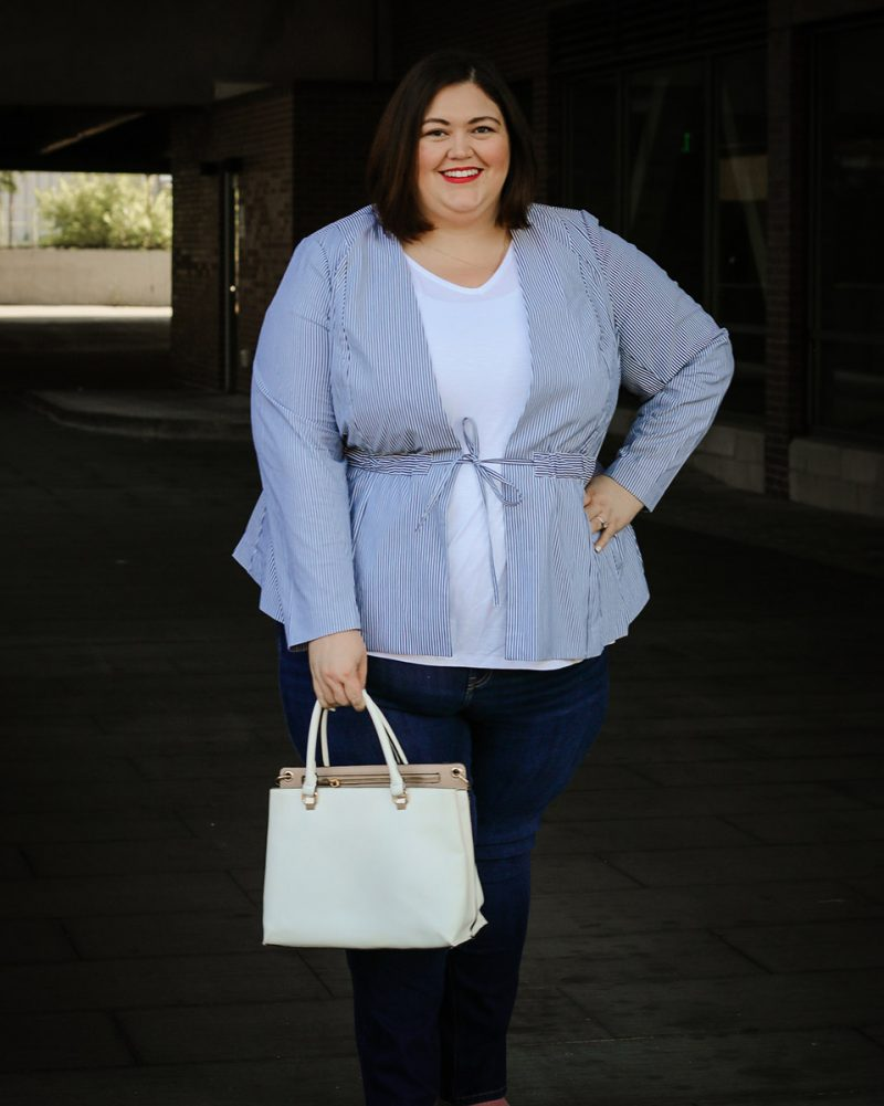 A professional but cool summer outfit idea from Lane Bryant