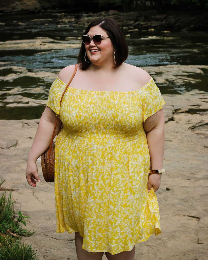 Plus size summer outfit idea from Lane Bryant on Louisville influencer Authentically Emmie
