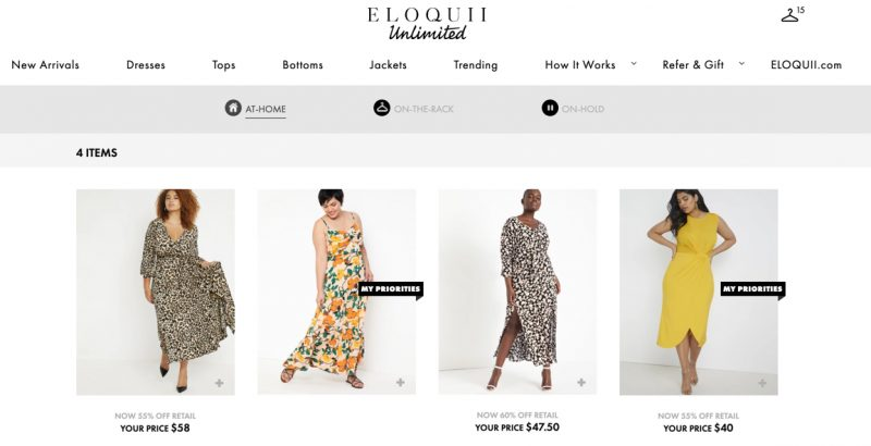 How Eloquii Unlimited plus size rental works