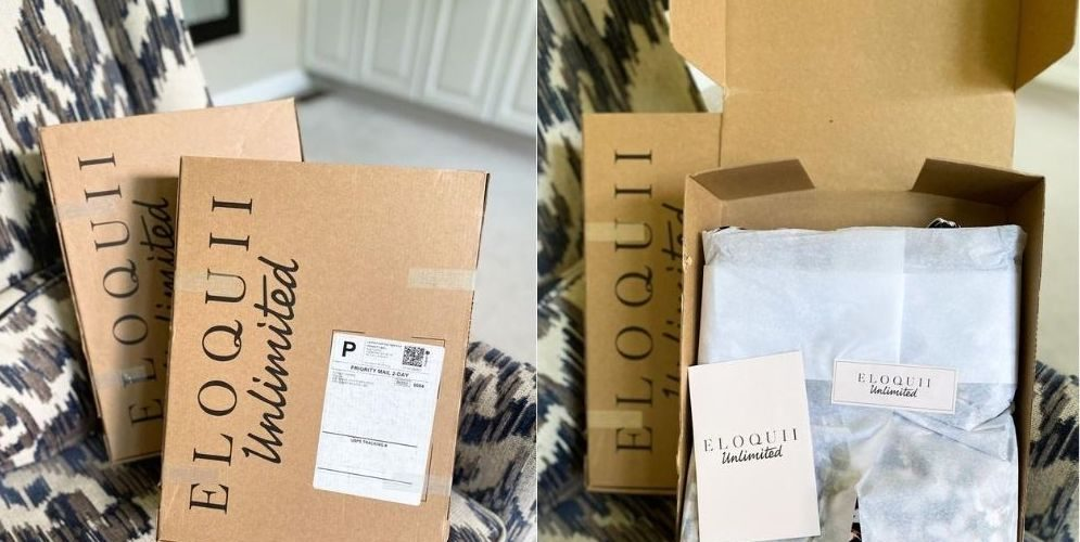 ELOQUII Unlimited rental service unboxing and review