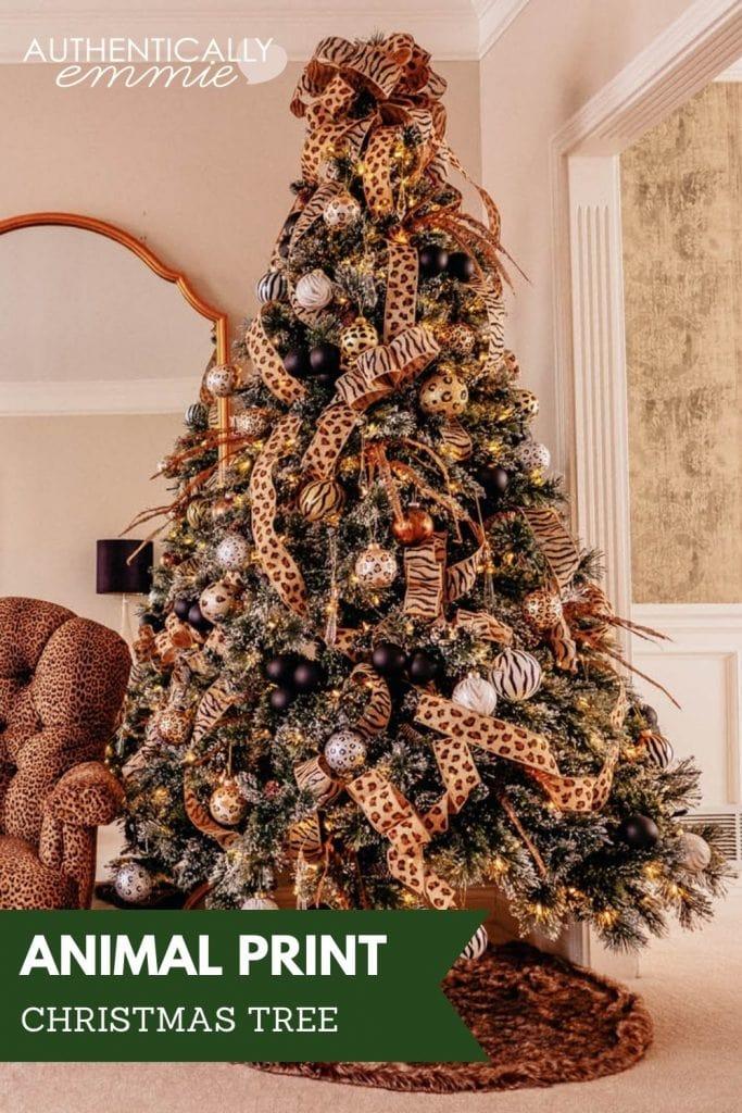 How to make an animal print Christmas tree theme