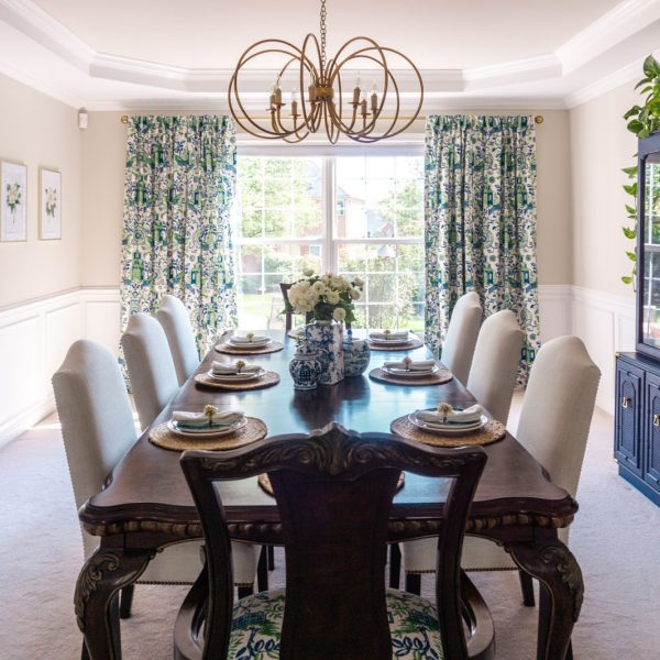 Room Reveal: Chinoiserie Dining Room