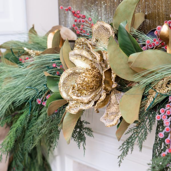 Decorate a Fireplace Mantel for Christmas