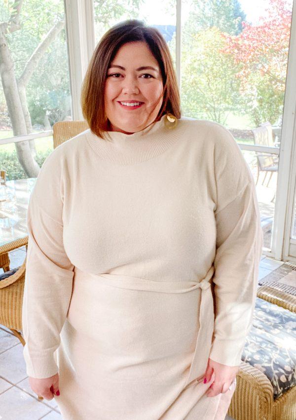 Winter White Sweater Dress
