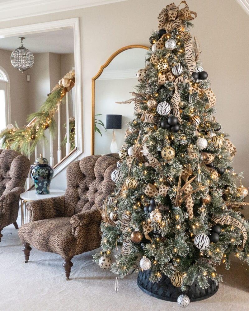 Animal print Christmas tree 2020