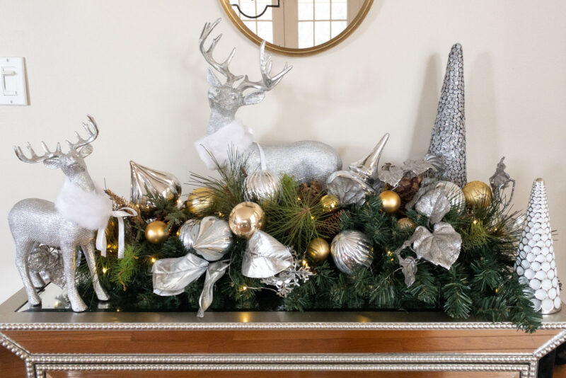 Fancy reindeer decorations for Christmas