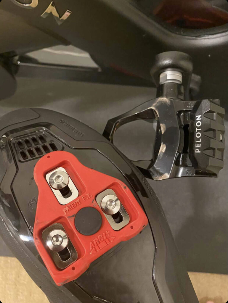 Peloton bike cleats and pedals