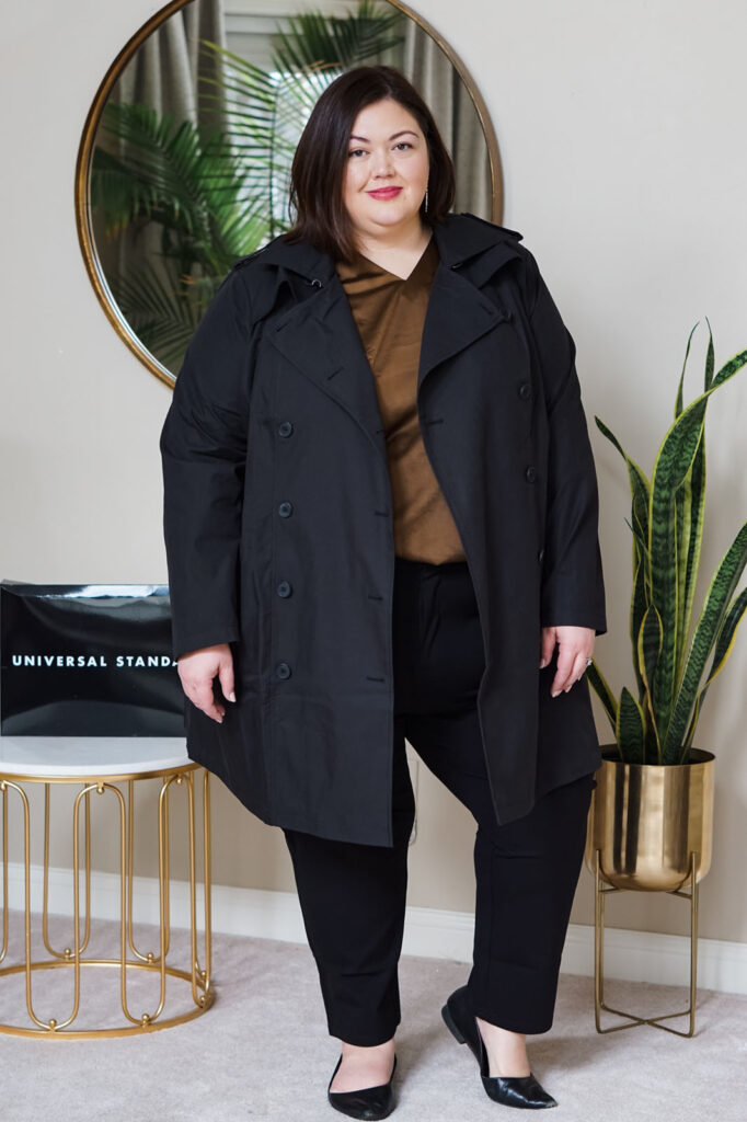 Luxe, contemporary plus size outfit