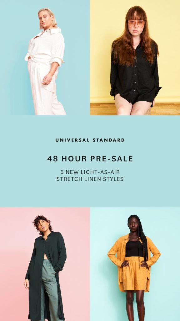 Universal Standard Linen Collection Pre-sale