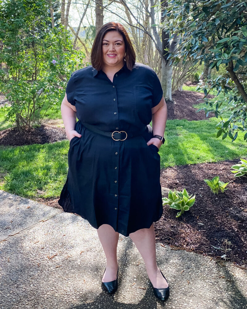 Belt a shirt dress for some extra shape in the waist.