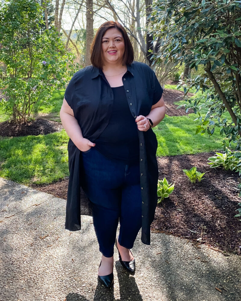 Easy casual outfit idea from Louisville influencer Authentically Emmie