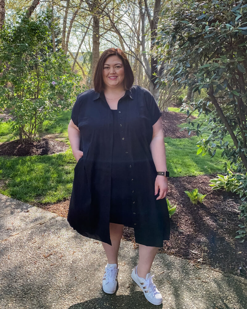 Easy plus size casual outfit from plus size influencer Authentically Emmie