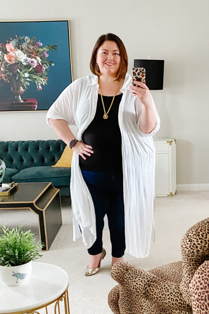 A casual and polished plus size outfit idea