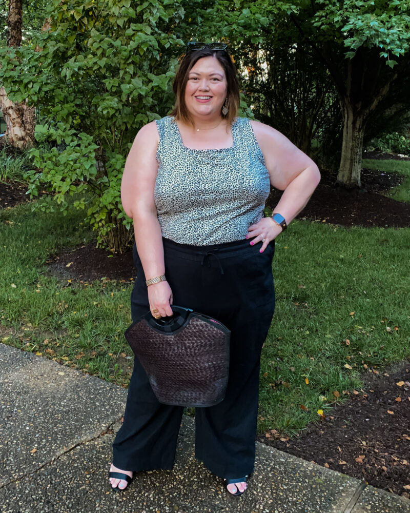 Lane Bryant plus size summer casual outfit