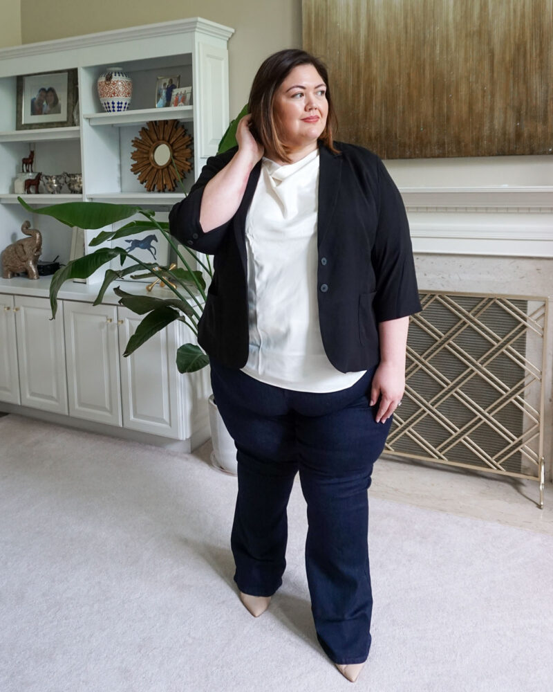Upscale casual plus size outfit from Emily Ho